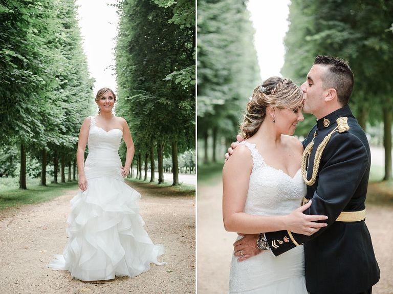 séance photo après le mariage à versailles