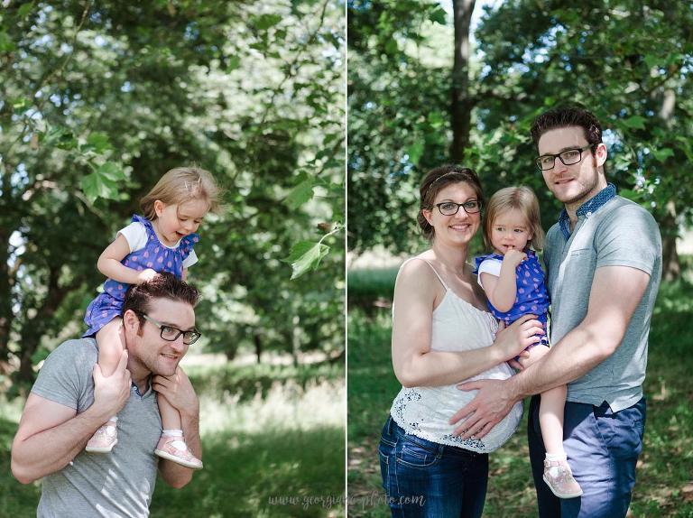 Photographe Versailles. Séance photo grossesse en famille